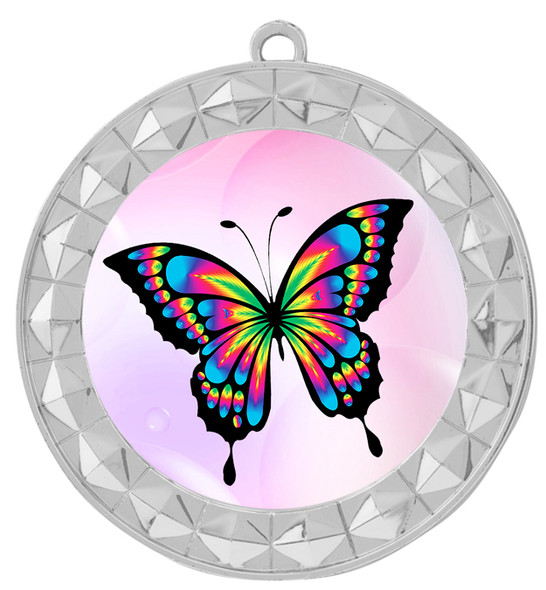 Butterfly theme medal with choice of 8 artwork designs.  935s