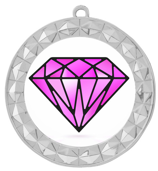 Diamond theme medal.  Gold medal finish.  Choice of 8 designs. Includes free engraving and neck ribbon  (935s