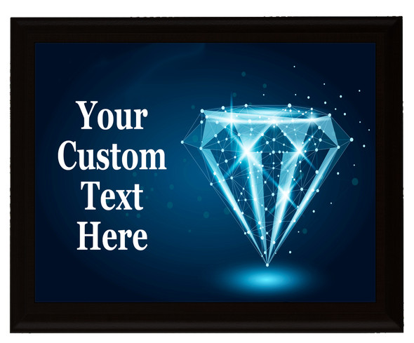 Custom Full Color Plaque.  Choice of black or brown plaque with full color plate.  5 Plaques sizes available - Diamond 10