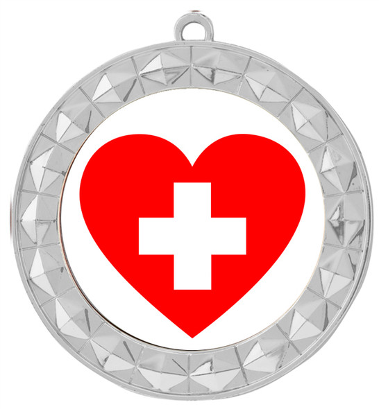 Medical hero theme medal.  Choice of 9 designs.  Includes free engraving and neck ribbon.  (hero - 935s