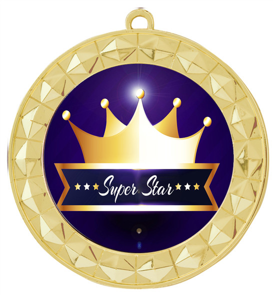 Super Star theme medal.  Choice of 9 designs.  Includes free engraving and neck ribbon.  ( 935g