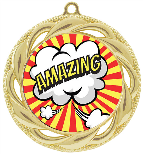 Student Encouragement theme medal.  Choice of 6 designs.  Includes free engraving and neck ribbon.  ( 938g