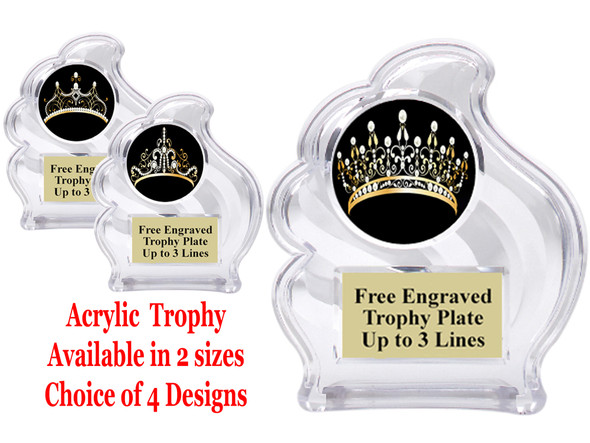 "NEW!  Acrylic ""Wave"" trophy available in 2 sizes! (002)"