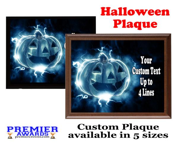 Halloween Custom Full Color Plaque.  Choice of black or brown plaque with full color plate.  5 Plaques sizes available -halloween 003