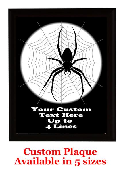 Halloween Custom Full Color Plaque.  Choice of black or brown plaque with full color plate.  5 Plaques sizes available -halloween 006