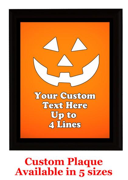 Halloween Custom Full Color Plaque.  Choice of black or brown plaque with full color plate.  5 Plaques sizes available -halloween 008