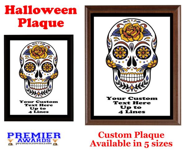 Halloween Custom Full Color Plaque.  Choice of black or brown plaque with full color plate.  5 Plaques sizes available -halloween 010