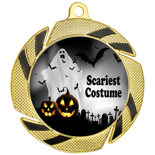 Halloween Costume Contest medal.  Choice of art work.  Includes free engraving and neck ribbon