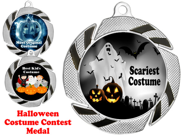 Halloween Costume Contest medal.  Choice of art work.  Includes free engraving and neck ribbon.  951S