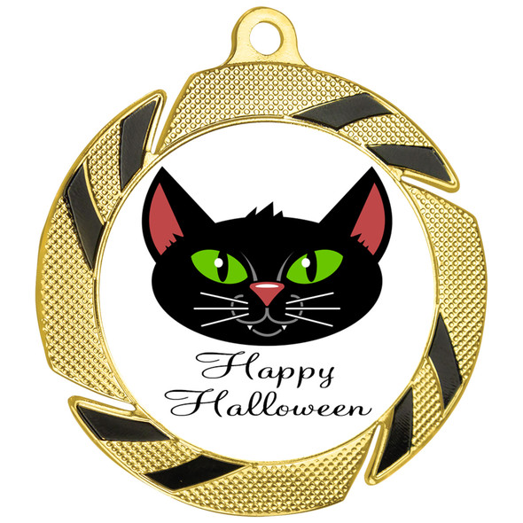 Cute Halloween Theme medal.  Cute art work for your young recipients.  Great for your Halloween events, pageants, parties and more!