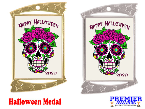 Halloween medal.  Perfect for your Halloween events, pageants, and contests!  005