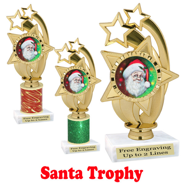 Santa trophy.  Perfect for your Holiday pageants, events, contests and more!  ph55