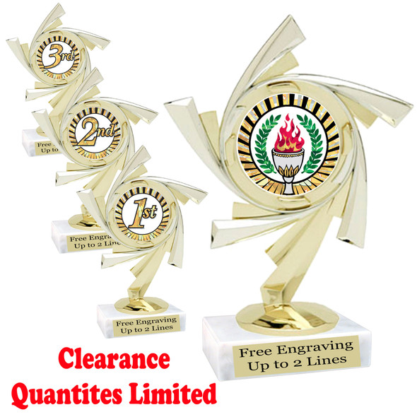 """Discontinued-Clearance trophy.  6"""" tall with limited quantities.    5075"""