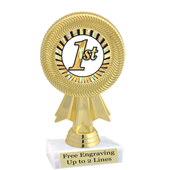 """Discontinued - Clearance trophy.  6"""" tall with limited quantities.  5091"""