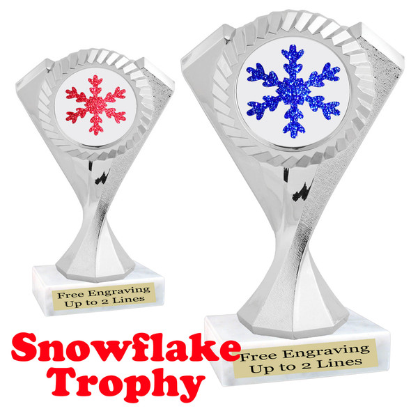 Glitter Snowflake trophy.  Great trophy for all of your holiday events and pageants.   5455