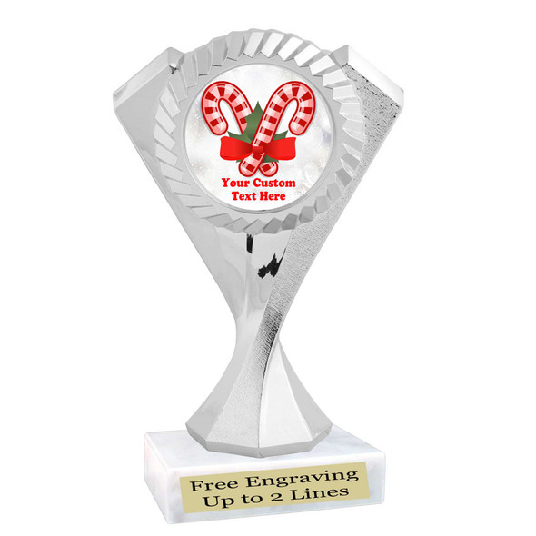 Custom Candy Cane trophy.  Great trophy for all of your holiday events and pageants.   5455s