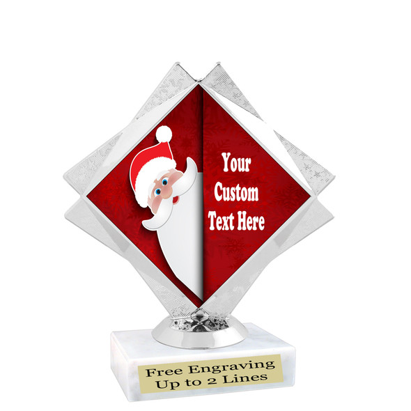 Custom Holiday trophy.  Great trophy for all of your holiday events and pageants. 5092-3
