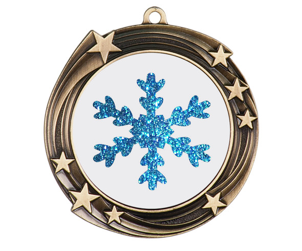Glitter Snowflake  medal.  Great medal for those Holiday Events, Pageants, Contests and more!  930g