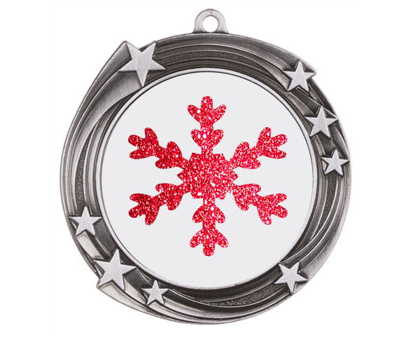 Glitter Snowflake  medal.  Great medal for those Holiday Events, Pageants, Contests and more!  930s