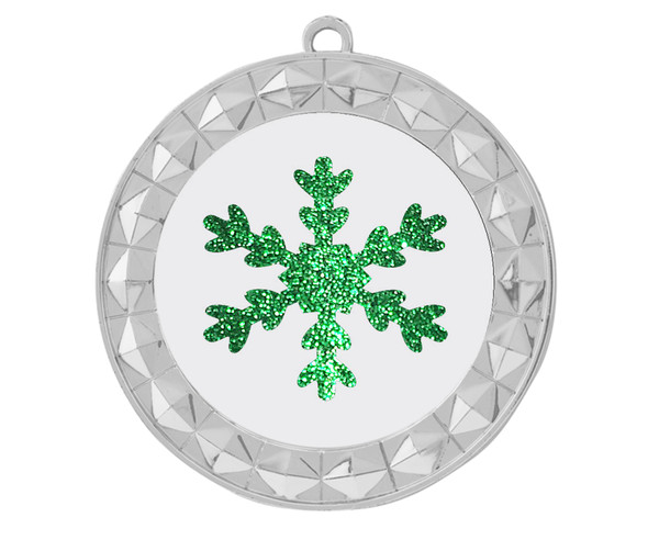 Glitter Snowflake  medal.  Great medal for those Holiday Events, Pageants, Contests and more!  935s
