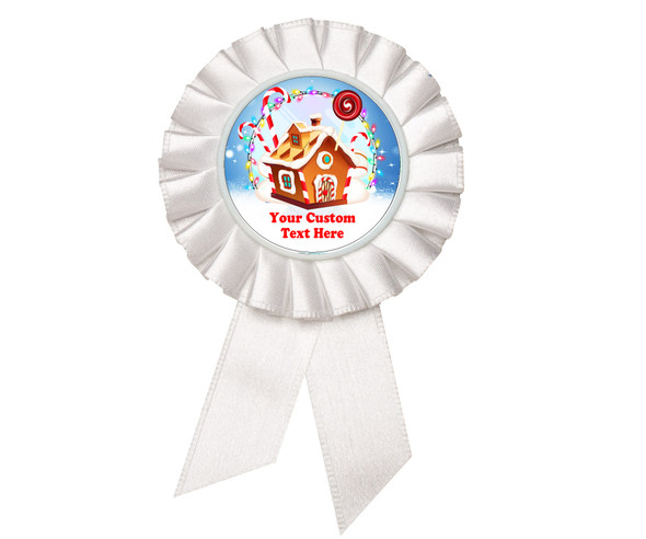 Custom Holiday theme Rosette.  Great award for you Holiday pageants, contests, parties, decorations and more   2