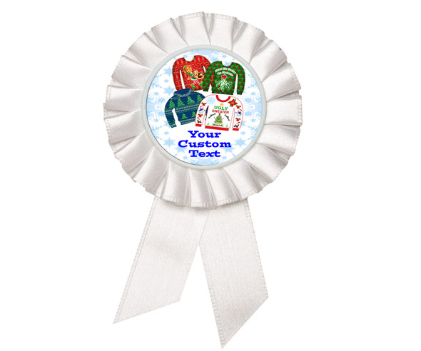 Custom Holiday theme Rosette.  Great award for you Holiday pageants, contests, parties, decorations and more   4