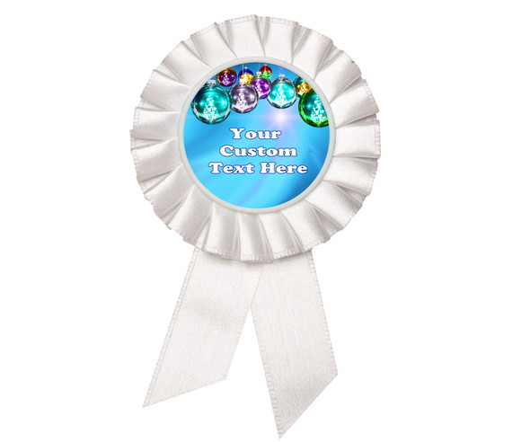Custom Holiday theme Rosette.  Great award for you Holiday pageants, contests, parties, decorations and more   5