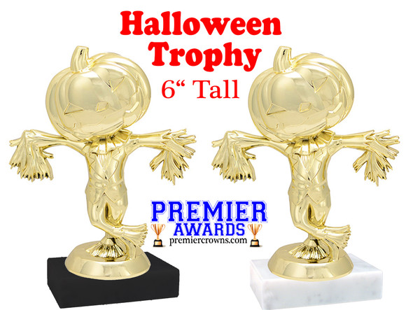 """6"""" tall Scarecrow Trophy with choice of base"""