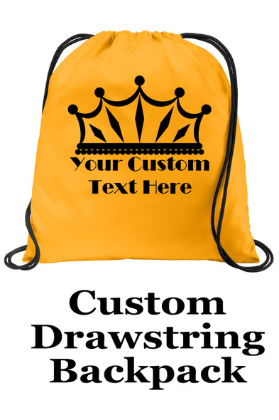 Customizable Cinch Backpack.  Great for awards, gifts and raffles.   (002