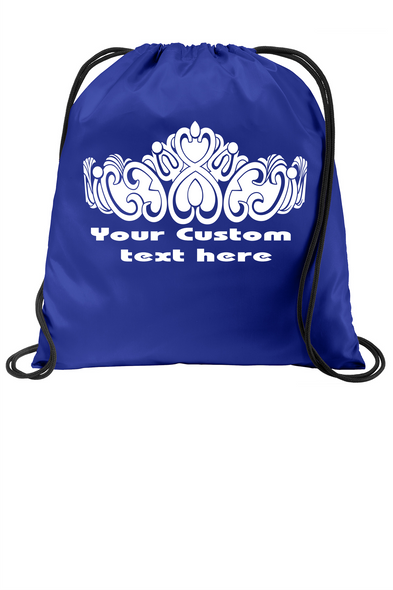 Customizable Cinch Backpack.  Great for awards, gifts and raffles.   (003