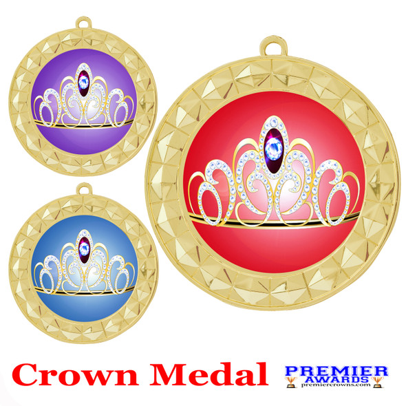 Crown medal.  Great for your pageants, events, contests and for the Queen or Princess in your life.