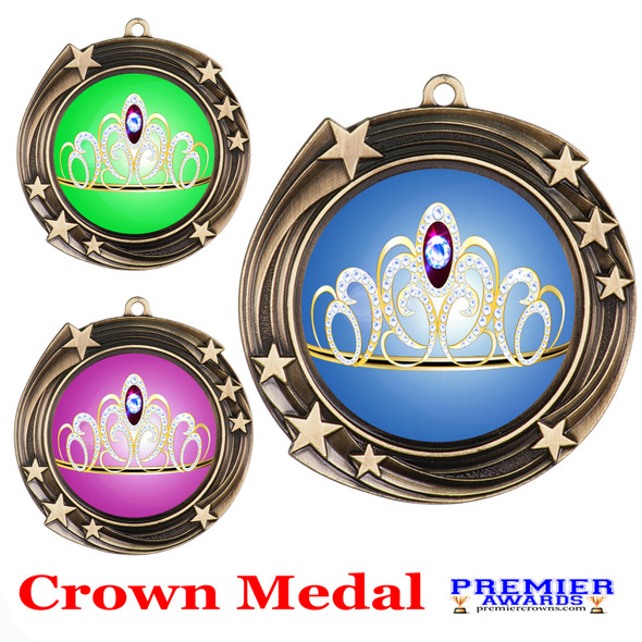 Crown medal.  Great for your pageants, events, contests and for the Queen or Princess in your life.  930g