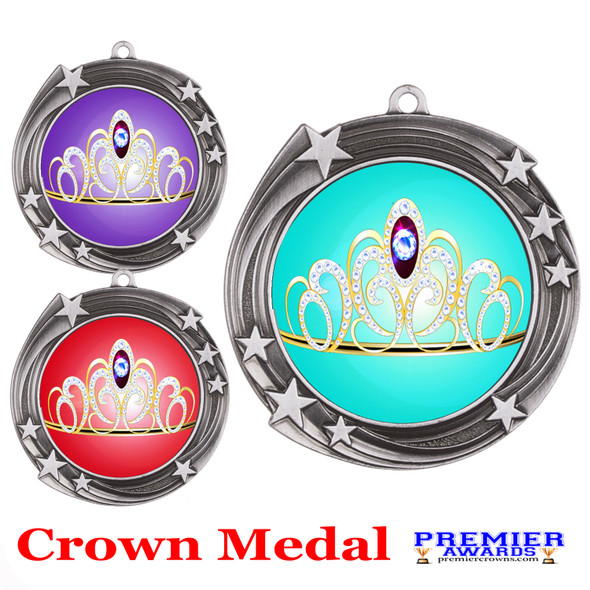 Crown medal.  Great for your pageants, events, contests and for the Queen or Princess in your life.  930s
