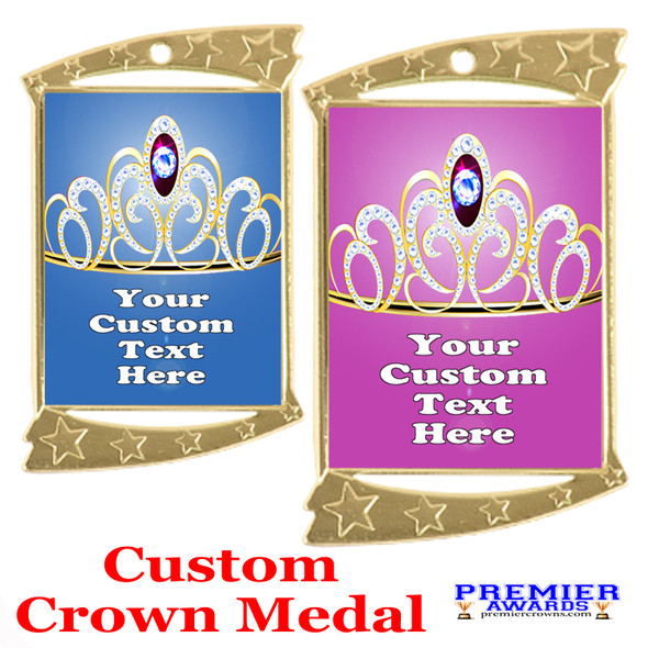 Custom Crown medal.  Great for your pageants, events, contests and for the Queen or Princess in your life.  927g