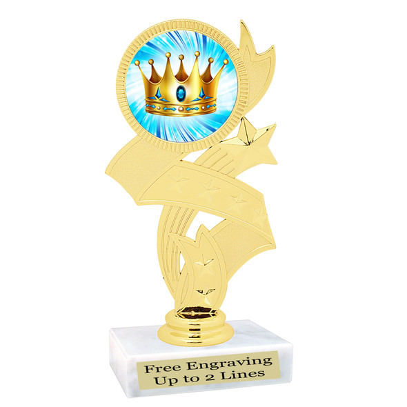 King Crown trophy.  Great trophy for your pageants, events, contests and more!   92766