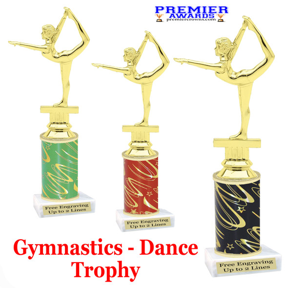Gymnastics - Dance Trophy.  Great trophy for your pageants, events, contests, recitals, and more.  f2301