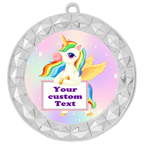 Custom Unicorn theme medal.  Great medal for your pageants, contests, competitions and more.   002
