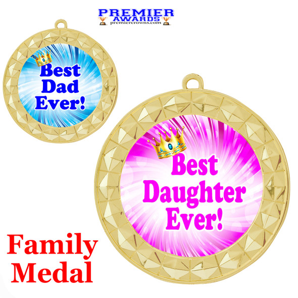 Best Family Medal. Show your appreciation and love to your family members with this great medal.  935-g