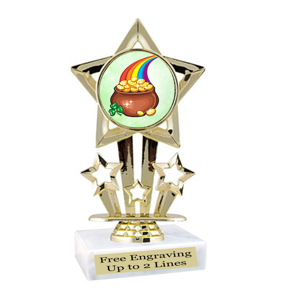St. Patrick's Day Trophy.   Great award for your pageants, events, competitions, parties and more.