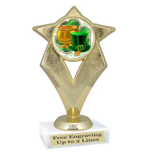 St. Patrick's Day Trophy.   Great award for your pageants, events, competitions, parties and more.  -002