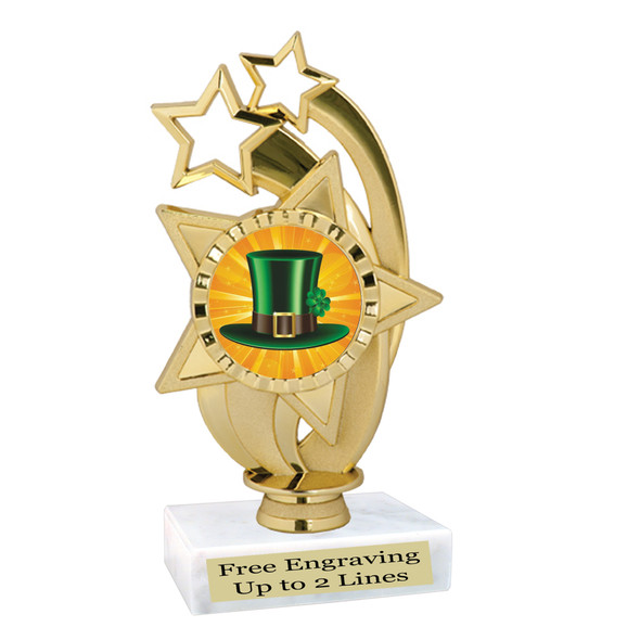 St. Patrick's Day Trophy.   Great award for your pageants, events, competitions, parties and more.  -006