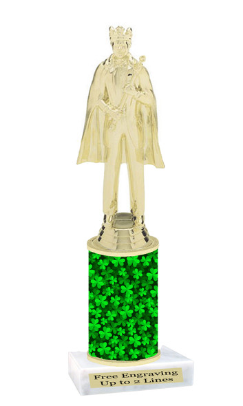 St. Patrick's Day Trophy.   Great award for your pageants, events, competitions, parties and more.  Clover Column 1