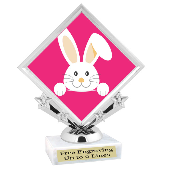 Easter theme trophy.  Great award for your pageants, Easter Egg Hunts, contests, competitions and more.