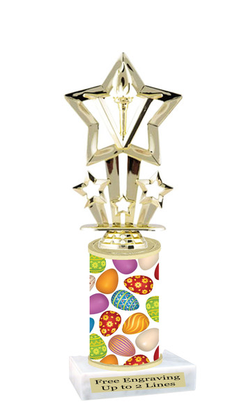 Easter theme trophy.  Festive award for your Easter pageants, contests, competitions and more.  003