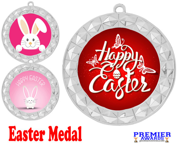 Easter theme Medal. Festive medals for your Easter themed pageants, contests, Egg Hunts and more.  935s