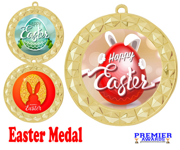 Easter theme Medal. Festive medals for your Easter themed pageants, contests, Egg Hunts and more.  935g