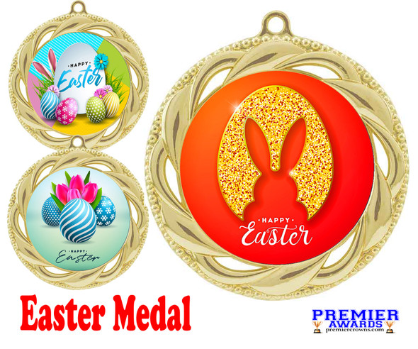 Easter theme Medal. Festive medals for your Easter themed pageants, contests, Egg Hunts and more.  938g