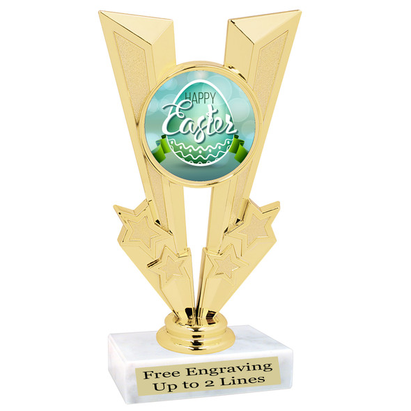 Easter theme trophy.  Festive award for your Easter pageants, contests, competitions and more.  92746
