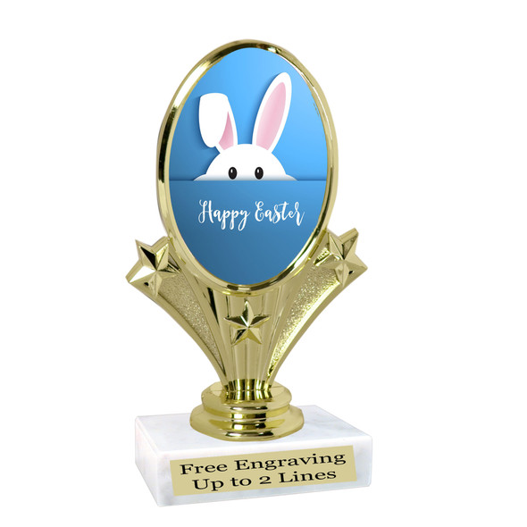 Easter theme trophy.  Festive award for your Easter pageants, contests, competitions and more.  90075-5