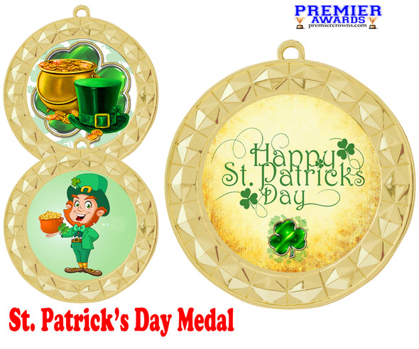 St. Patrick's Day Medal.   Great award for your pageants, events, competitions, parties and more.  -935g